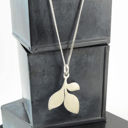 leaves sterling silver pendant