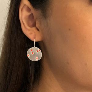 Red raindrops earrings