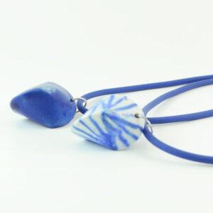 Porcelain blue necklace