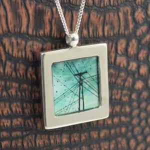 Unique silver pendant