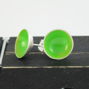 Green bowls sterling silver studs
