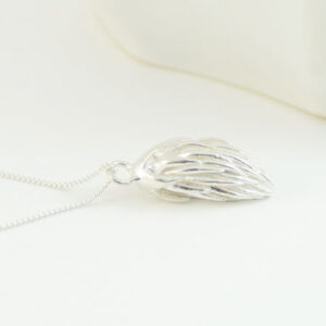Nature inspired jewelry pendant in sterling silver