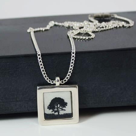 Photo silver pendant