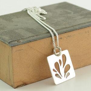 Sterling silver droplet pendant