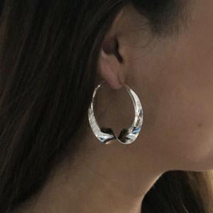 Silver swirl hoops