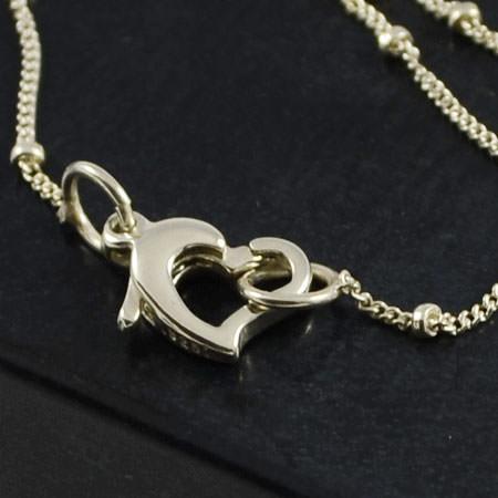 petite silver drop necklace