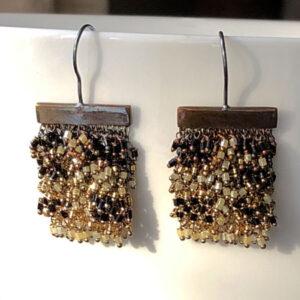Milena Zu small beaded earrings