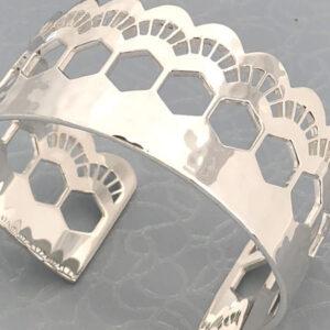 Lace silver cuff