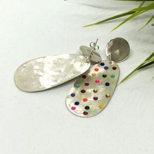 Large colour pop earrings