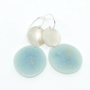 blue dahlia earrings