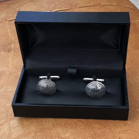 Threepence coin cufflinks