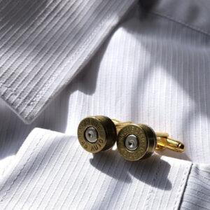 Steampunk bullet head cufflinks