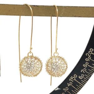 Vega gold drop earrings