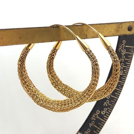 golden mesh hoops