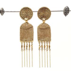 Hamal gold drop earrings