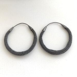 Dark hoop earrings
