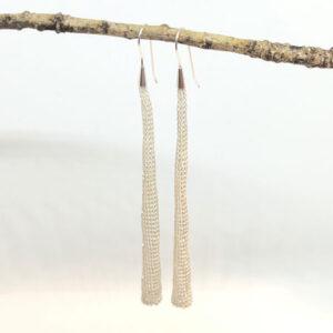 Long Altair silver earrings