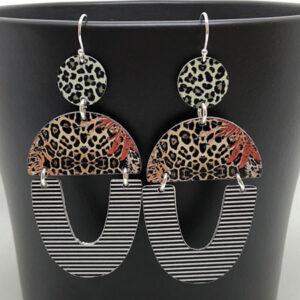 Safari print earrings