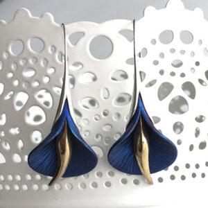 Calla lily hook earrings