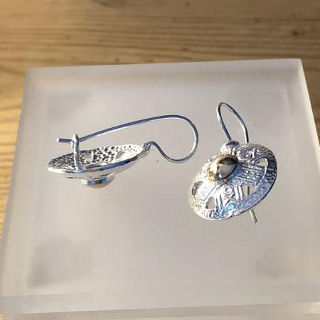 Amulet silver earrings
