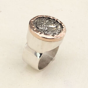 Empire silver signet ring