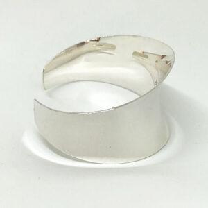 wide concave silver cuff