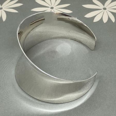 Concave silver cuff