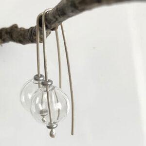 Handblown glass earrings