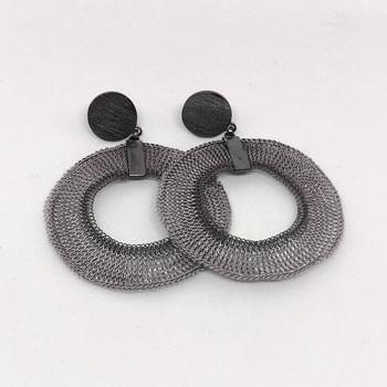 Large Milena Zu Open Vega earrings