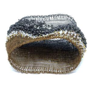 Black beaded Betel bracelet by Milena Zu