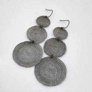 Vega drop earrings in stainless steel