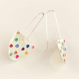 Half oval colour pop earrings