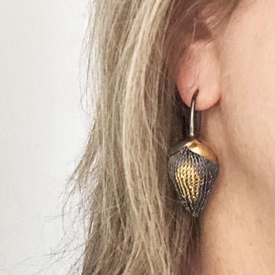 Leafed Spica earrings by Milena Zu