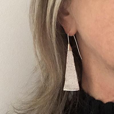 sterling silver prism earrings