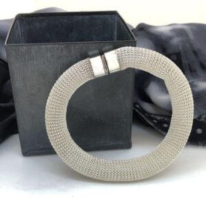 Silver mesh bangle