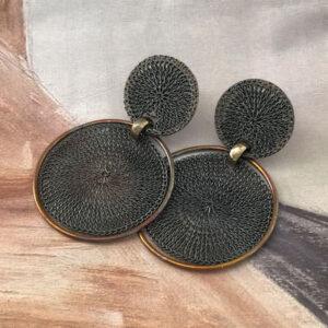 milena zu black bronze earrings