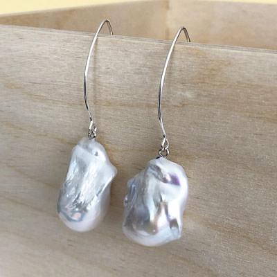 Fireball pearl earrings