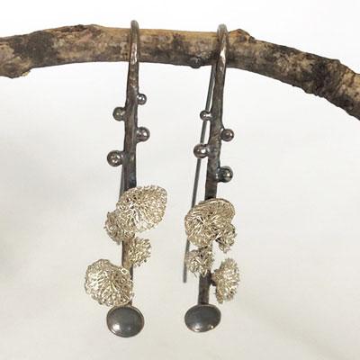 Unique drop earrings by Milena Zu